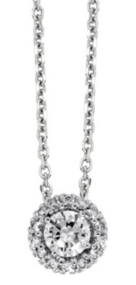 Halo Semi-Mount Pendant - 1/6 ct tw