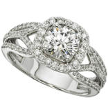 Women's Halo Semi-Mount Fancy Diamond Engagement Ring - 3/5 ct tw