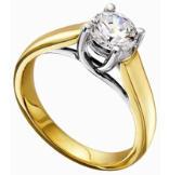 Women's Traditional Trellis Diamond Solitaire Semi-Mount Engagement Ring