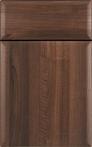 Leighton woodgrain thermofoil Amber Walnut