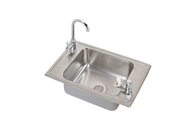 Image for Celebrity Stainless Steel Single Bowl Top Mount Sink + Faucet Kit from elkay-consumer