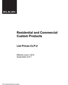 2012 CLP-2 Custom Price List