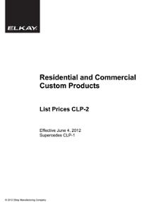 2012 CLP-2 Custom Price List