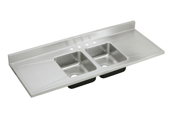 Gourmet (Lustertone) Stainless Steel Double Bowl Sink Top Sink