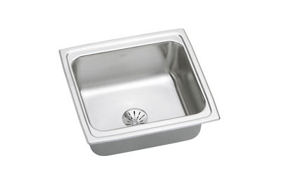 Image for Gourmet (Lustertone) Stainless Steel Single Bowl Top Mount Bar Sink Kit from elkay-consumer