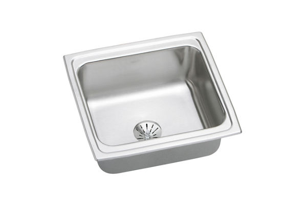 Gourmet (Lustertone) Stainless Steel Single Bowl Top Mount Bar Sink Kit