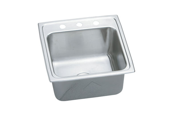 Gourmet (Lustertone) Stainless Steel Single Bowl Top Mount Sink