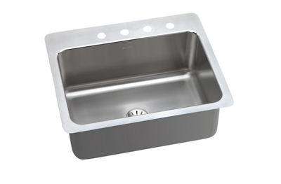 Image for Gourmet (Lustertone) Stainless Steel Single Bowl Dual / Universal Mount Sink Kit from elkay-consumer