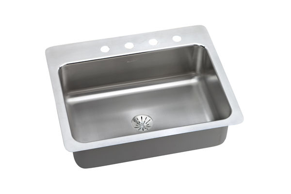 Dayton Premium Stainless Steel Single Bowl Dual / Universal Mount Sink Kit