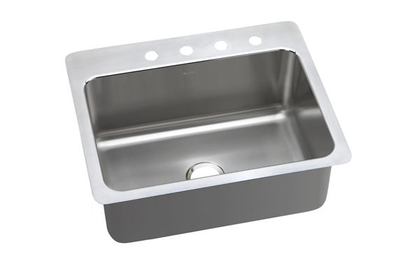 Gourmet Stainless Steel Single Bowl Dual / Universal Mount Sink