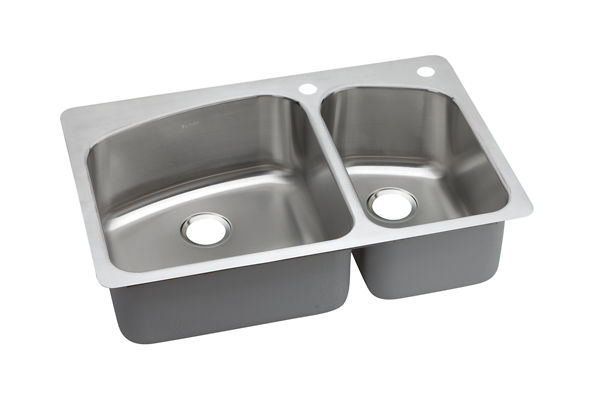 Dayton Premium Stainless Steel Double Bowl Dual / Universal Mount Sink