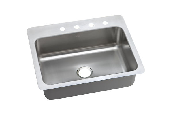Dayton Elite Stainless Steel Single Bowl Dual / Universal Mount Sink