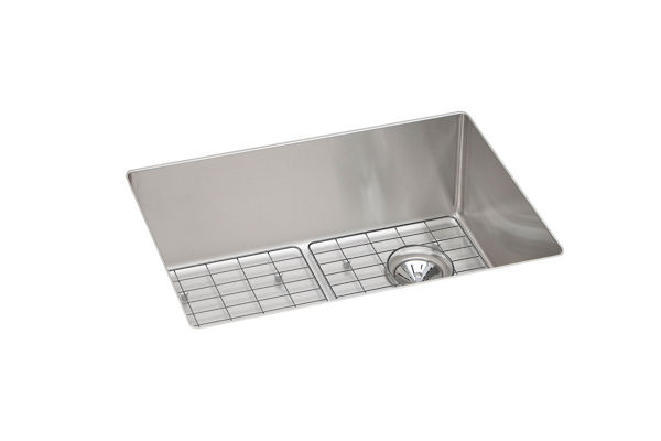 Crosstown Stainless Steel Single Bowl Undermount Sink Kit