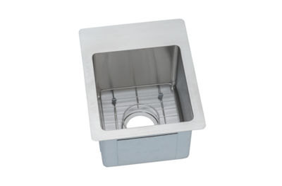 Image for Crosstown Stainless Steel Single Bowl Dual / Universal Mount Sink Kit from elkay-consumer
