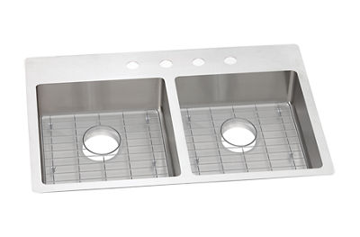 Image for Crosstown Stainless Steel Double Bowl Dual / Universal Mount Sink Kit from elkay-consumer