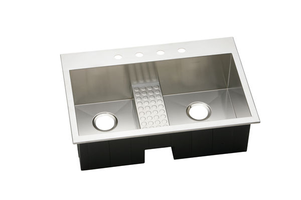 Avado Stainless Steel Double Bowl Top Mount Sink