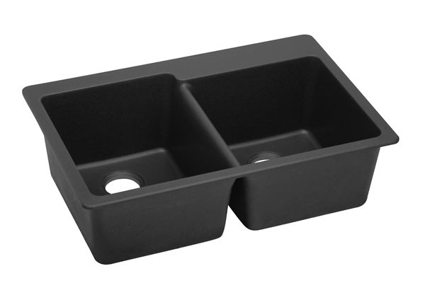 Gourmet e-granite Double Bowl Top Mount Sink