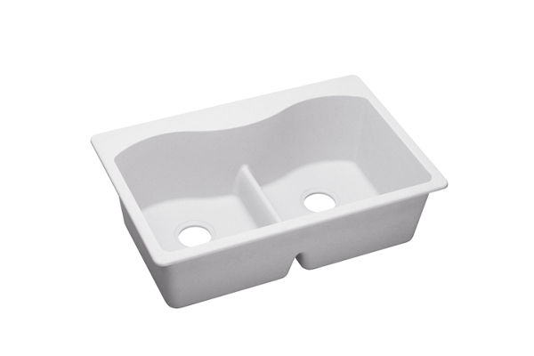 Harmony e-granite Double Bowl Top Mount Sink