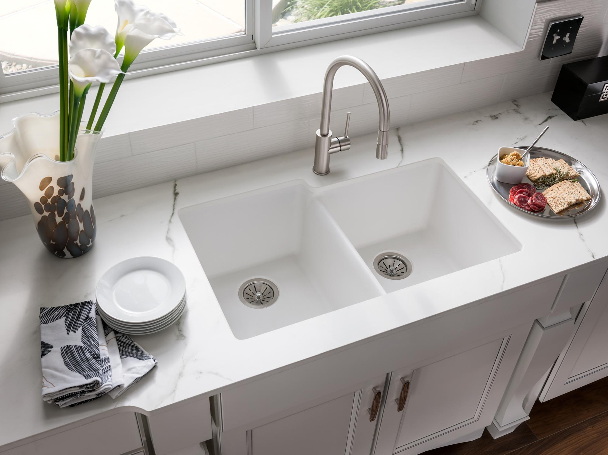 quartz classic kitchen sinks | elkay