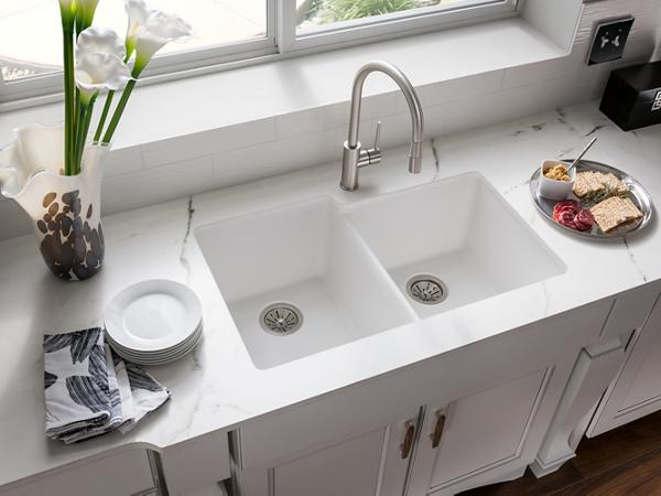 Quartz Undermount Kitchen Sinks Part - 16: ELKAY | Quartz Classic Kitchen Sinks. Bold Granite Colors. Sleek Style.