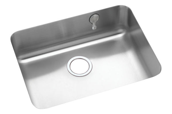 Gourmet (Lustertone) Stainless Steel Single Bowl Undermount Sink Kit