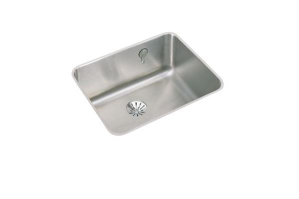 Gourmet (Lustertone) Stainless Steel Single Bowl Undermount Sink Kit