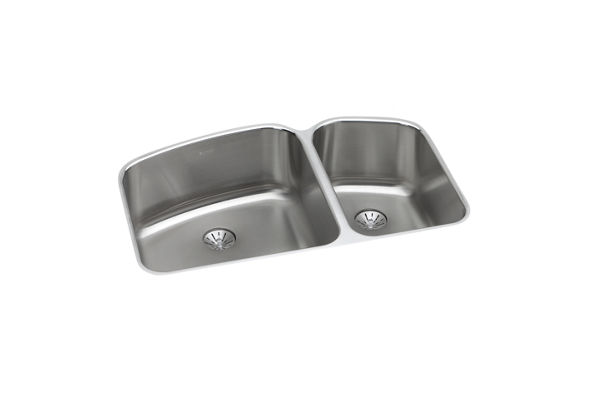 Harmony (Lustertone) Stainless Steel Double Bowl Undermount Sink Kit