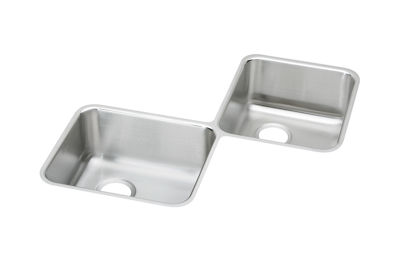 Image for Gourmet (Lustertone) Stainless Steel Double Bowl Undermount Sink from elkay-consumer