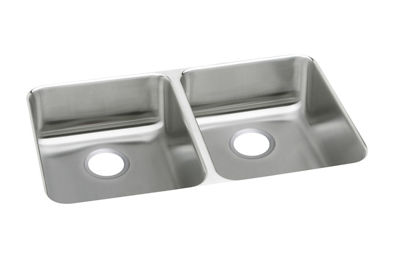 ... Lustertone) Stainless Steel Double Bowl Undermount Sink ELUHAD361855