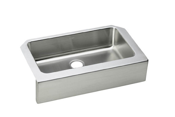 Gourmet (Lustertone) Stainless Steel Single Bowl Apron Front Undermount Sink Kit