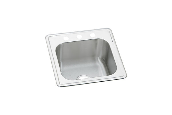 Gourmet Stainless Steel Single Bowl Top Mount Sink