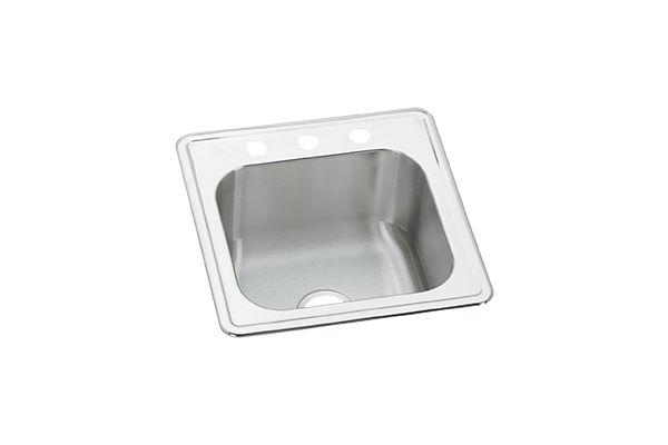 Gourmet Stainless Steel Single Bowl Top Mount Sink