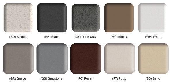 Wonderful E Granite Color Swatches
