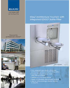 Elkay Architectural Fountain with Integrated EZH2O™ Bottle Filler (F-4571)