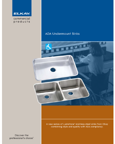 2009 ADA undermount sink (F-4254)