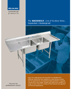 2009 Rigdbilt Line of Scullery Sinks (F-4303)