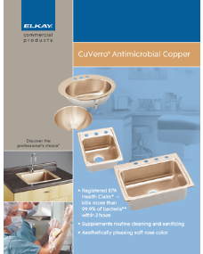 2012 CuVerro Antimicrobial Copper Sinks (F-4507)