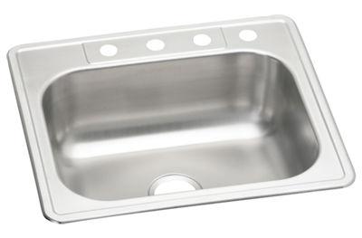 Elkay Neptune Stainless Steel Single Bowl Top Mount Sink