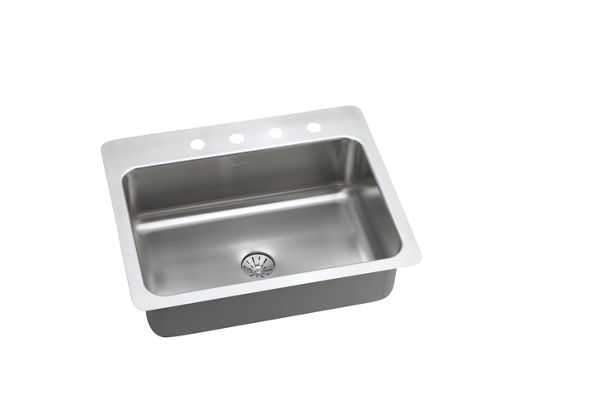 InnerMost Stainless Steel Single Bowl Dual / Universal Mount Sink Kit