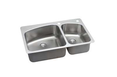 Image for InnerMost Stainless Steel Double Bowl Dual / Universal Mount Sink Kit from elkay-consumer