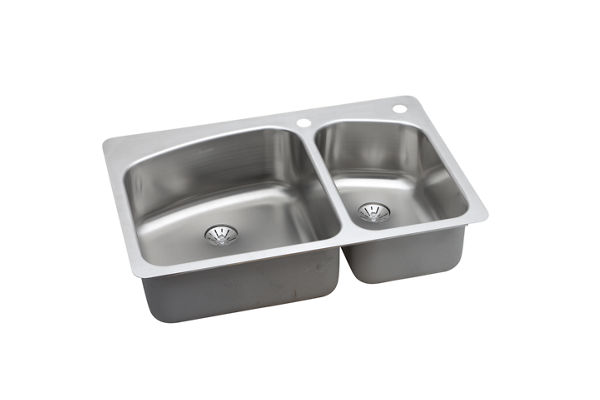 InnerMost Stainless Steel Double Bowl Dual / Universal Mount Sink Kit