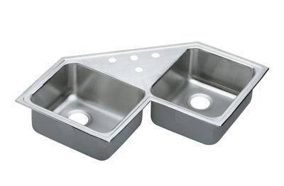 ... / Gourmet (Lustertone) Stainless Steel Double Bowl Top Mount Sink