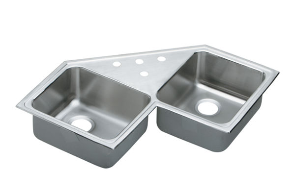 Gourmet (Lustertone) Stainless Steel Double Bowl Top Mount Sink