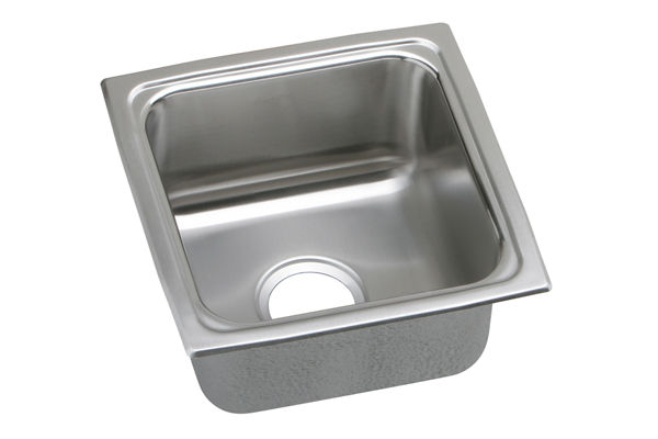 Gourmet (Lustertone) Stainless Steel Single Bowl Top Mount Bar Sink