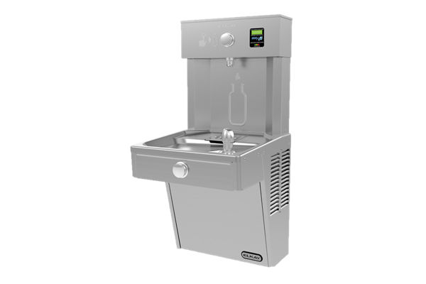 Filtered Vandal-Resistant EZH2O® Bottle Filling Station with Single Vandal-Resistant Cooler