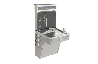 Image for Filtered EZH2O® Bottle Filling Station with Single Green Vandal-Resistant Cooler from elkay-consumer
