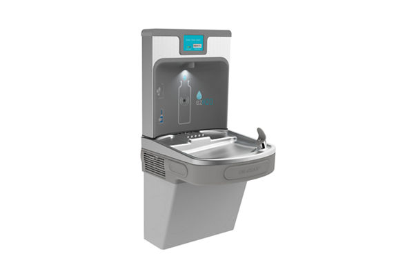 Filtered Enhanced EZH2O® Bottle Filling Station with Single ADA Cooler- Light Gray