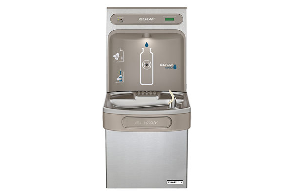 Filtered EZH2O® Bottle Filling Station with Single Green ADA Cooler