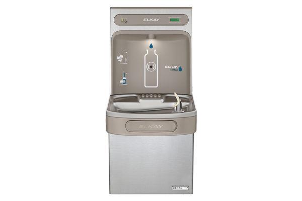 Filtered EZH2O® Bottle Filling Station with Single Green ADA Cooler