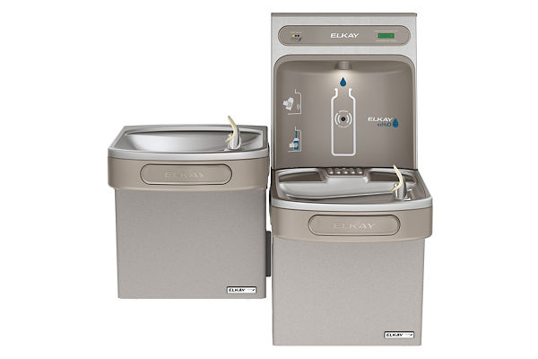 Filtered EZH2O® Bottle Filling Station with Bi-Level Green ADA Cooler